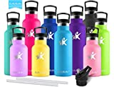 KollyKolla Vakuum-Isolierte Edelstahl Trinkflasche, BPA-frei Wasserflasche mit Filter -...