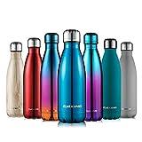 Cmxing Doppelwandige Thermosflasche 500 mL / 750 mL mit Tasche BPA-Frei Edelstahl Trinkflasche...
