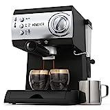 Espresso Siebträgermaschine,Homever 15 Bar Espressomaschine Kaffeemaschine mit Milchschaum...