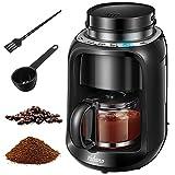 Yabano Grind und Brew Filterkaffeemaschine, 2 IN 1 Kaffeemaschine mit Mahlwerk, Timer, doppeltes...