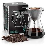 Coffee Gator Pour Over Kaffeebrüher – Mehr Geschmack mit einem papierlosen Edelstahlfilter und...