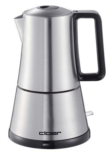 elektrischer Espressokocher mit Induktion Espressokanne Edelstahl