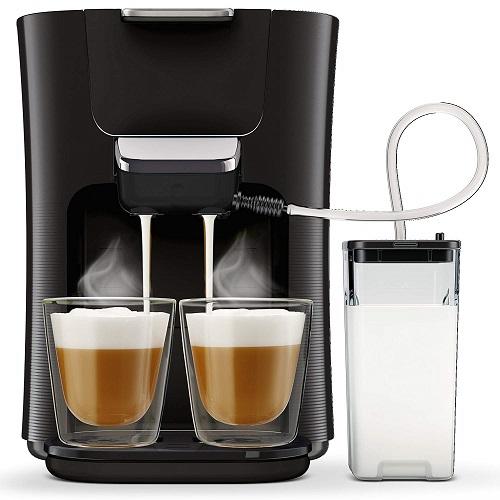 Senseo Kaffeepadmaschine mit Milchaufschäumer HD6570 60